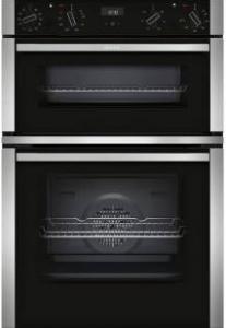 Neff U1ACE5HN0B Built-In Double Oven - Black W/Steel