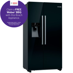 Bosch KAD93VBFPG, Serie 6, Frost Free, American Fridge Freezer, Black