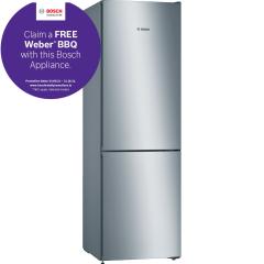 Bosch KGN36VLEAG, 198 x 60, Serie 4, Frost Free, Fridge Freezer, Stainless Steel