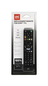 One For All URC1912, Sony Replacement, Remote Control, Black