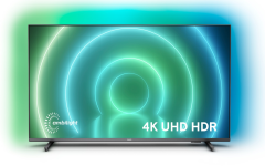 "Philips 65PUS7906, 65"", 4K UHD LED Smart TV w/ Ambilight, Black"