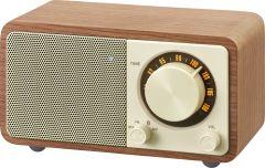 Sangean WR7WALNUT, Table Top Mini FM Radio w/ Bluetooth, Walnut