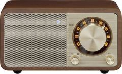Sangean WR7CHERRY, Table Top Mini FM Radio w/ Bluetooth, Cherry