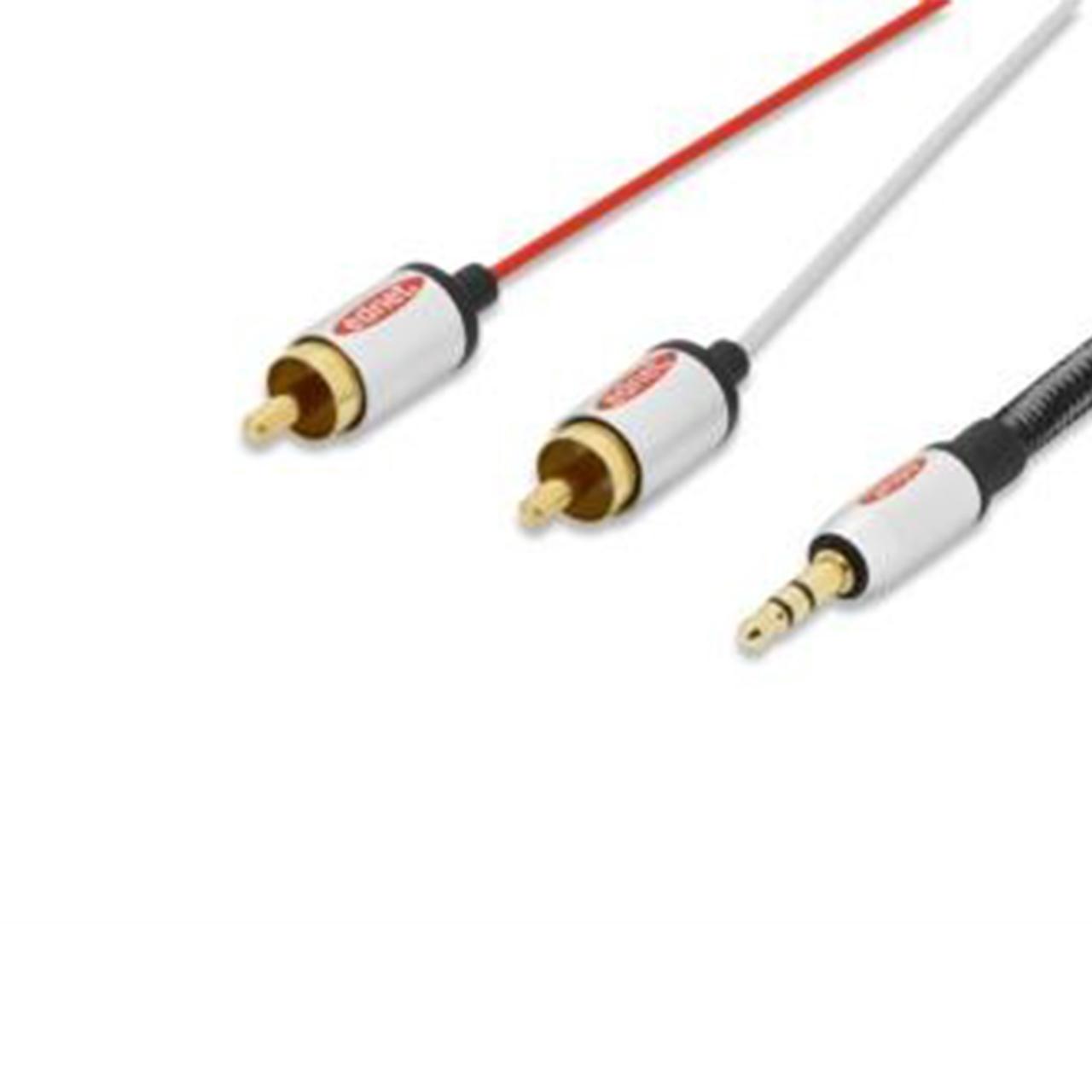 Buy Ednet 84542, Audio Premium Cable, Stereo, 3.5mm, 2X RCA, M/M ...