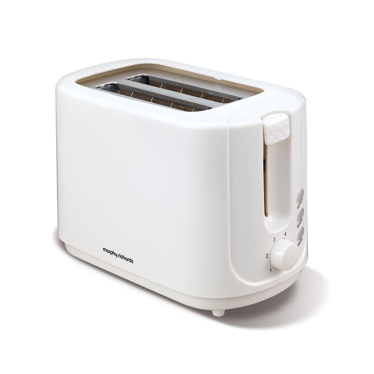 morphy richards   slice white toaster  soundstore - morphy richards   slice white toaster