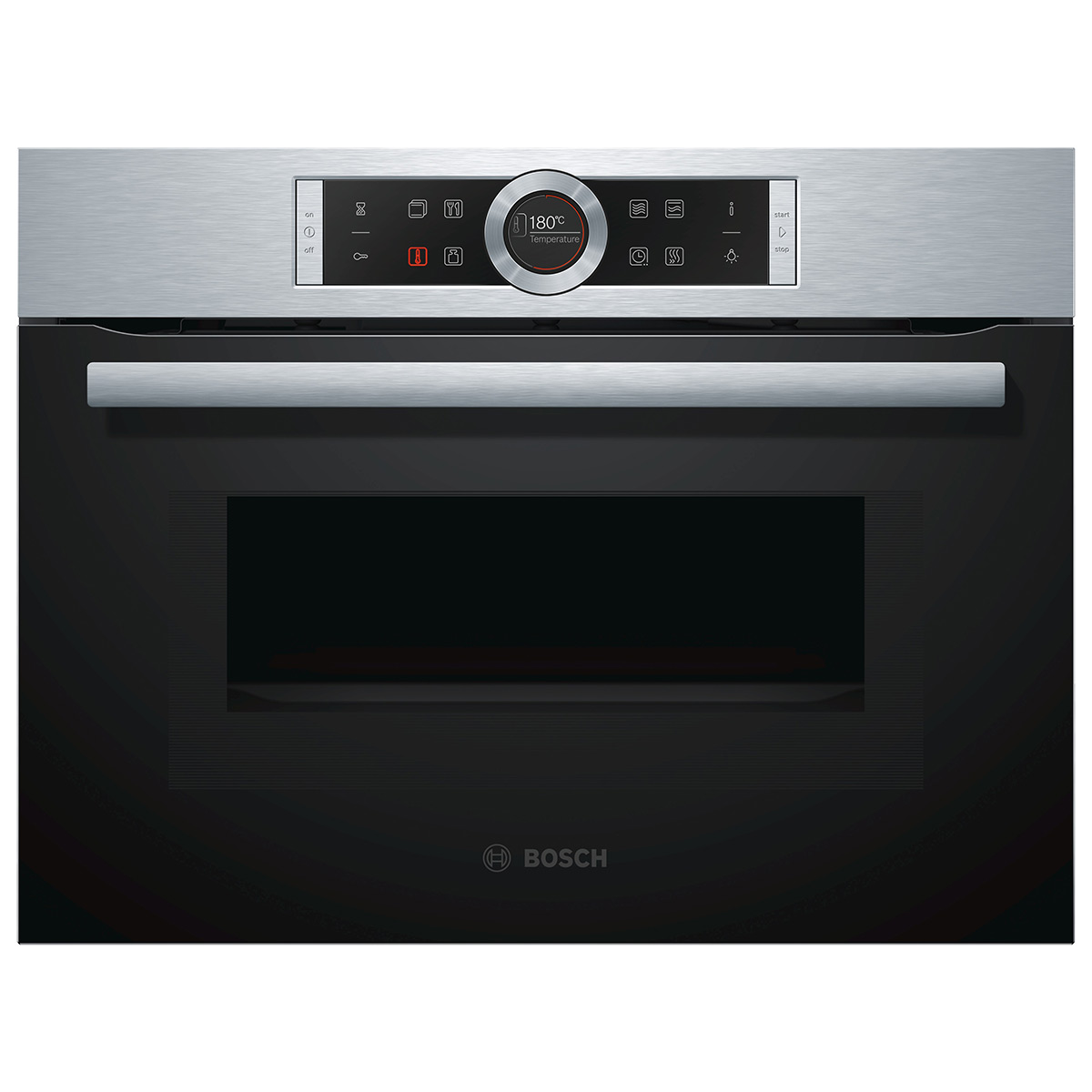 Bosch Cmg633bs1b Compact Built In Single Oven With Microwave Stainless Steel