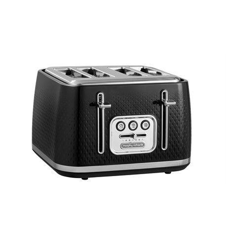 Buy Morphy Richards 243010 4 Slice Verve Toaster Black Soundstore The home of smart ideas. morphy richards 243010 4 slice verve toaster black