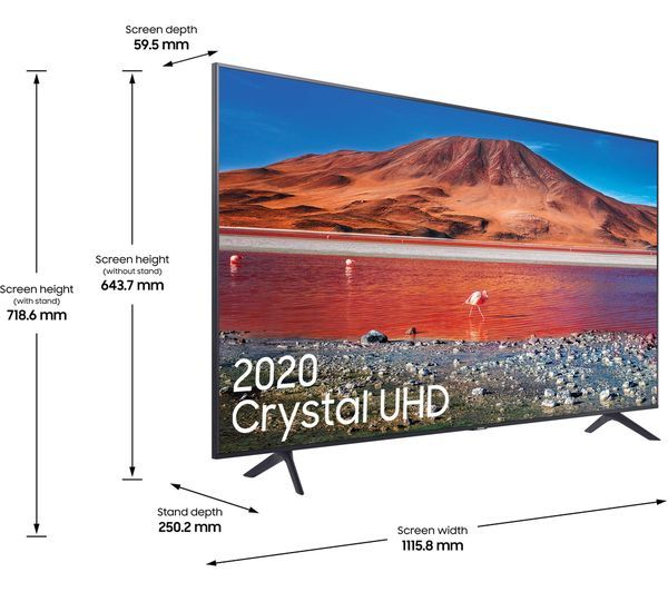 "Samsung UE50TU7100KXXU, 50"", Ultra HD, Smart 4K LED TV"