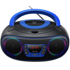DENVER TCL212BTBLUE, Boombox Radio, CD & USB input & Bluetooth