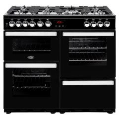 Belling 100DFTBLK Cook Centre 100cm Dual Fuel Black Range Cooker
