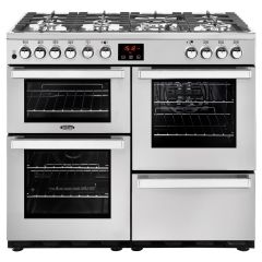 Belling 100DFTPROFSTA Cook Centre 100cm Dual Fuel Stainless Steel Range Cooker