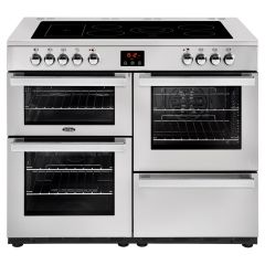 Belling 110EPROFSTA Cookcentre Electric 110cm Range Cooker, Stainless Steel