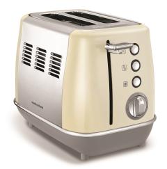 Morphy Richards 224407, 2 Slice Toaster, Cream
