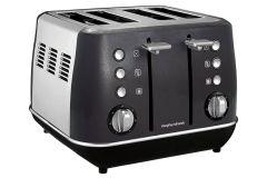 Morphy Richards 240105, Evoke 4 Slice Toaster, Black