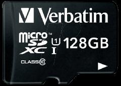 Verbatim 44085, 128GB, MicroSD Memory Card w/ Adapter