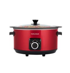 Morphy Richards, 6.5L, Sear & Stew, Slow Cooker, Red