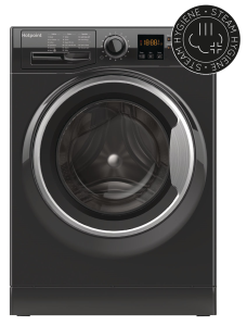 Hotpoint NSWM843CBS, 8KG, 1400RPM, Washing Machine, Black
