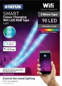 Status SSTRIP3MTR, Smart WiFi LED Stip Lights, 3 Metres