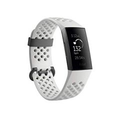 Fitbit 79FB410GMWT, Charge 3, Special Edition, Graphite/White