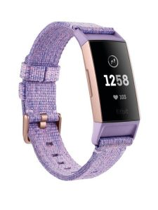 Fitbit 79FB410RGLV, Charge 3, Special Edition, Lavender Woven Rose Gold