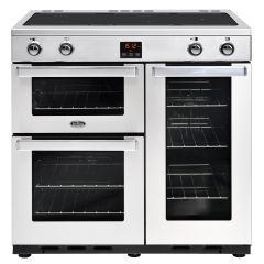 Belling 90EIPROFSTA, CookCenter, 90cm, Induction, Range Cooker, Stainless Steel