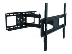"Deltaco ARM460, Full Motion Wall Mount TV Bracket for 37"" to 70"", Black"