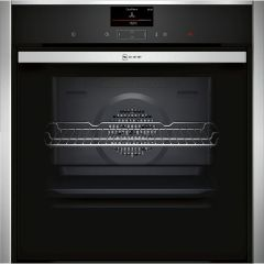 Neff B57CS24H0B, Wifi Connected, Built-In Electric Single Oven, Stainless Steel