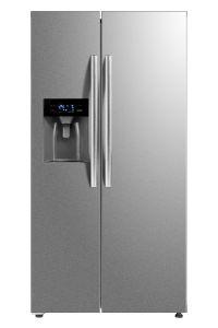 Belling BAFF493SS, 338/155L, American Syle Fridge Freezer W/ Water & Ice Dispenser