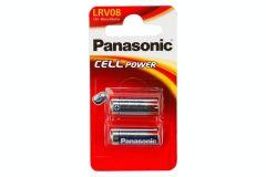 Panasonic LRV08B2, 12V Micro Alkaline Battery - Pack of 2