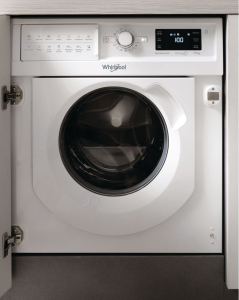 Whirlpool, BIWDWG7148UK, Built In, Washer Dryer, FreshCare+, White
