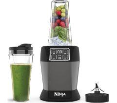 Ninja BN495UK,1000W, Auto IQ Blender, Black & Silver