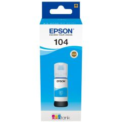 Epson 104 C13T00P240, EcoTank Printer Ink, Cyan