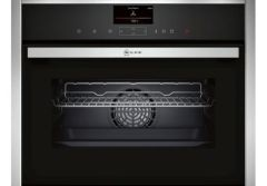Neff C17FS32H0B, FullSteam Integrated Compact Steam Oven, Stainless