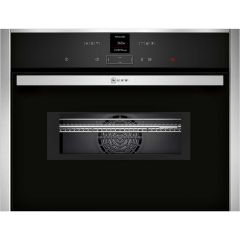 Neff C17MR02N0B, Compact, Built-in Single Oven with Microwave, Stainless Steel