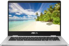 "ASUS C423NABV0078,  14"" HD Celeron 4GB/32GB, Chromebook, Silver"