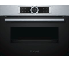 Bosch CFA634GS1B, Serie 8, Solo Microwave, Stainless Steel