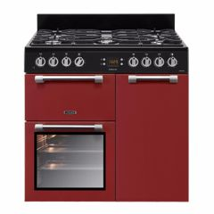 Leisure CK90F232R, Cookmaster, 90cm, Dual Fuel, Range Cooker, Red