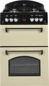 Leisure CLA60GAC, 60cm, Gas, Double Oven, Cooker, Cream