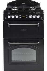 Leisure CLA60GAK, 60cm, Double Oven, Gas Cooker, Black