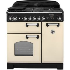 Rangemaster CLA90DFFCRC, Classic 90, Range Cooker, Cream/Chrome