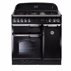 Rangemaster Classic, CLAS90DFFBL/C, 90cm, Dual Fuel, Range Cooker, Black