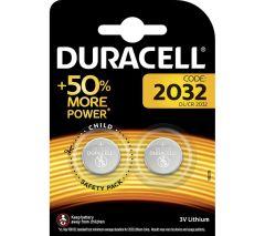 Duracell DL2032B2, 3V Batteries x2