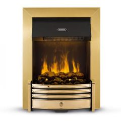 Dimplex CRS20, Crestmore 2Kw Brass Optimyst Inset, Electric Fire