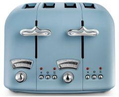Delonghi CT04AZ, 4 Slice Toaster, Blue