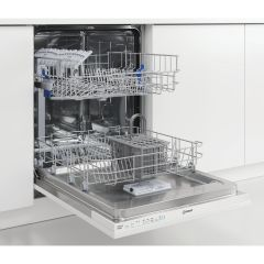 Indesit DIE2B19,13 Place Settings, Full-Size Integrated Dishwasher, White