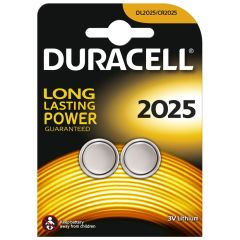 Duracell DL2025B2, Coin Cell Battery, 2 Pack