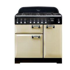 Rangemaster Elan, ELAS90DFFCR, 90cm, Dual Fuel, Range Cooker, Cream