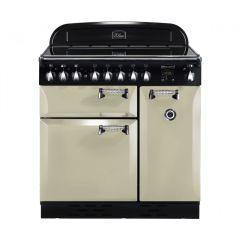 Rangemaster Elan, ELAS90ECCR, 90CM, All Electric, Ceramic Hob, Range Cooker, Cream