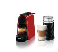 Magimix 11373, Essenza + Aeroccino, Nespresso, Coffee Machine, Ruby Red