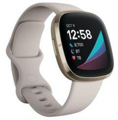 Fitbit 79FB512GLWT, Sense Heath & Activity Fitness Tracker, Lunar White